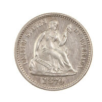 RAW 1870 SEATED LIBERTY H10C UNCERTIFIED UNGRADED SILVER HALF DIME COIN