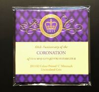 2013 CORONATION $2 COIN    WITH C MINTMARK    STILL SEALED    HIGH VALUE ITEM