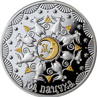 YEAR OF THE MOUSE 1 OZ PROOF LIKE SILVER COIN 20 RUBLES BELARUS 2019