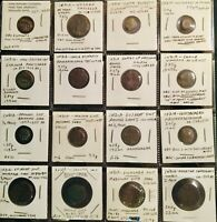 LOT OF 16 BETTER INDIAN COINS 200 1800 AD GREAT VARIETY