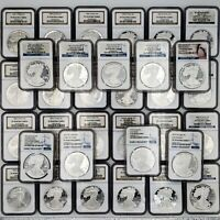 1986-2019 COMPLETE SILVER EAGLE SET NGC PF70 UCAM  SHIPS FREE