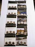 2011  2012 AMERICA THE BEAUTIFUL US MINT PDS COMPLETE SETS T