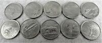 STATE QUARTER DOLLAR 10 DIFFERENT HIGH GRADE COINS.I SHIP US