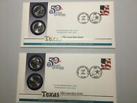 2004 TEXAS AND 2006 COLORADO STATE QUARTER FIRST DAY COVERS