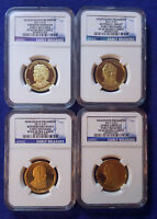 2011 S NGC PF69 EARLY RELEASES PRESIDENTIAL DOLLAR 4 COIN SET WITH BLUE LABEL