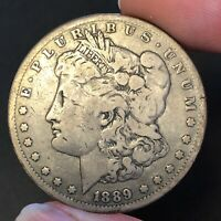 1889-CC $1 MORGAN ST DATE CARSON CITY MINTED FINE  NATURAL BEST VALUE