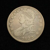 1822 CAPPED BUST HALF DOLLAR EXTRA FINE   COIN GREAT DATE