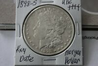 1898-S   KEY DATE   FULL BREAST FEATHERS   UNC  MORGAN SILVER DOLLAR
