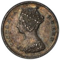 HONG KONG 1868 10 CENT SILVER COIN PCGS AU55 QUEEN VICTORIA KM 6.3 NICE TONING