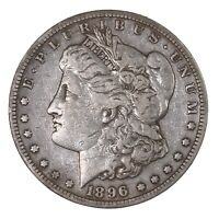 RAW 1896-S MORGAN $1 UNCERTIFIED UNGRADED SAN FRANCISCO MINT SILVER DOLLAR COIN