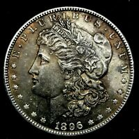 1896-P DOUBLED 1 VAM-7, GORGEOUS TONED - MORGAN SILVER DOLLAR - 8
