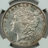 1889-S MORGAN DOLLAR, NGC MINT STATE 61, PQ AND ORIGINAL BETTER DATE.