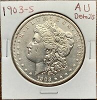 1903-S MORGAN SILVER DOLLAR ABOUT UNCIRCULATED AUKEY DATE