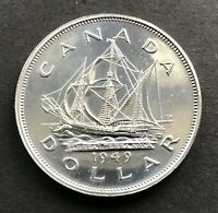 1949 CANADIAN SILVER DOLLAR NO RESERVE   AS SHOWN ON PICTURE