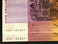 MATCHING PAIR OF $5 NOTES   SAME SERIAL NUMBER   DIFFERENT P