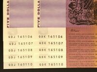 2 X IDENTICAL RUNS OF 5 X $5 NOTES   SAME NUMBERS   CONSEC P