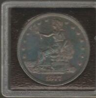 1877 SEATED LIBERTY TRADE DOLLAR NICELY TONED AU