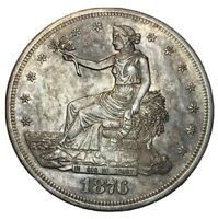 1877 S TRADE DOLLAR TONED AU DETAILS SILVER $