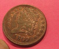 SHARP EF 1809 HALF CENT  TRACES OF LUSTER   129