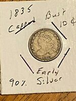 BETTER 1835 CAPPED BUST DIME 10C