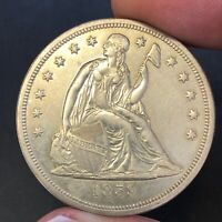 1859 O $1 SEATED LIBERTY DOLLAR UNCIRCULATED DETAILS SHARP &