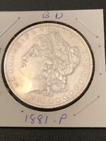 1881-P MORGAN SILVER DOLLAR  BRILLIANT UNCIRCULATED / GREAT DATE