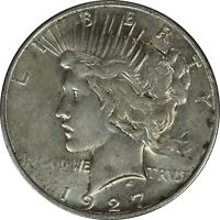 1927-D SILVER PEACE DOLLAR RAW CIRCULATED BETTER DATE/MINT