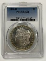 1883-O MORGAN SILVER DOLLAR PCGS MINT STATE 62 UNCIRCULATED