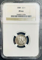 STUNNING 1889 THREE CENT NICKEL NGC PF 66 PROOF