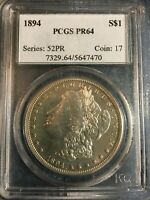 1894 PROOF MORGAN SILVER DOLLAR PCGS PR-64