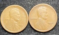 1921 & 1924 S LINCOLN WHEAT PENNIES- SHIPS FREE