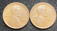 1920 & 1921 P LINCOLN WHEAT PENNIES-  COINS- SHIPS FREE