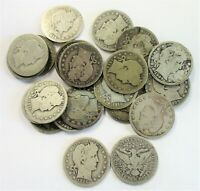 LOT OF  24  CIRCULATED SILVER BARBER QUARTERS