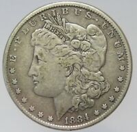 1884-P MORGAN SILVER DOLLAR CIRCULATED MM320