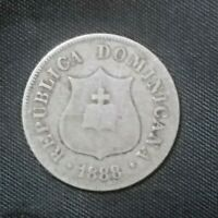 DOMINICAN REPUBLIC 1888 A  2 1/2 CENTAVOS VF