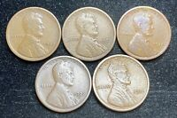 1920 PDS 1921 PS LINCOLN WHEAT PENNIES 5 COINS- SHIPS FREE 2