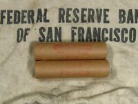 ONE  FRB SF SALT LAKE BRANCH INDIAN HEAD PENNY ROLL 50 CENTS   1859 1909