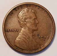 3  FINE LOW MINTAGE 1917 S LINCOLN WHEAT CENT
