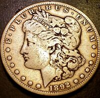 1892-S MORGAN SILVER DOLLAR F/VF DETAIL SAN FRANCISCO MINT 5920
