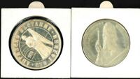 BULGARIA   LOT  2    SILVER 5 AND NICKEL 5 LEVA COINS   1976
