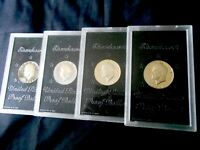 LOT OF 4 SILVER PROOF 1972-S EISENHOWER DOLLARS  FLAWLESS
