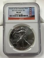 2011 SILVER AMERICAN EAGLE SAN FRANCISCO MINT NGC MINT STATE 69