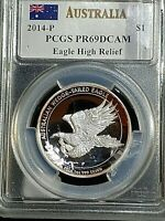 2014 P AUSTRALIA WEDGE TAILED EAGLE HIGH RELIEF PCGS PR69DCA