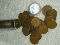 1919-S  CIRCULATED ROLL OF LINCOLN CENTS, , EARLY WHEATIES, 100 YEARS OLD