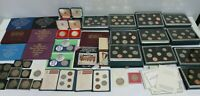 JOB LOT UK CURRENY 1970 1990'S COIN SETS ROYAL MINT COLLECTI