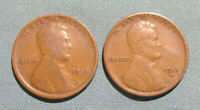 1915 P, 1915-D LINCOLN PENNIES - 2 1 U.S. CENT PENNY