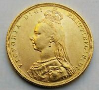 1890 VICTORIA JUBILEE HEAD GOLD SOVEREIGN.