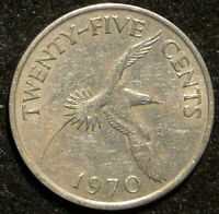 1970 BERMUDA 25  CENT COIN 1 OR MORE COINS ONLY $.98 SHIPPIN