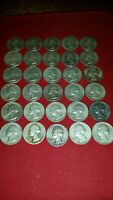 30  WASHINGTON 90  SILVER QUARTER LOT
