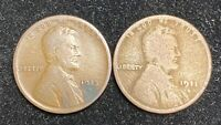 1911 D & 1913 D LINCOLN WHEAT PENNIES- SHIPS FREE